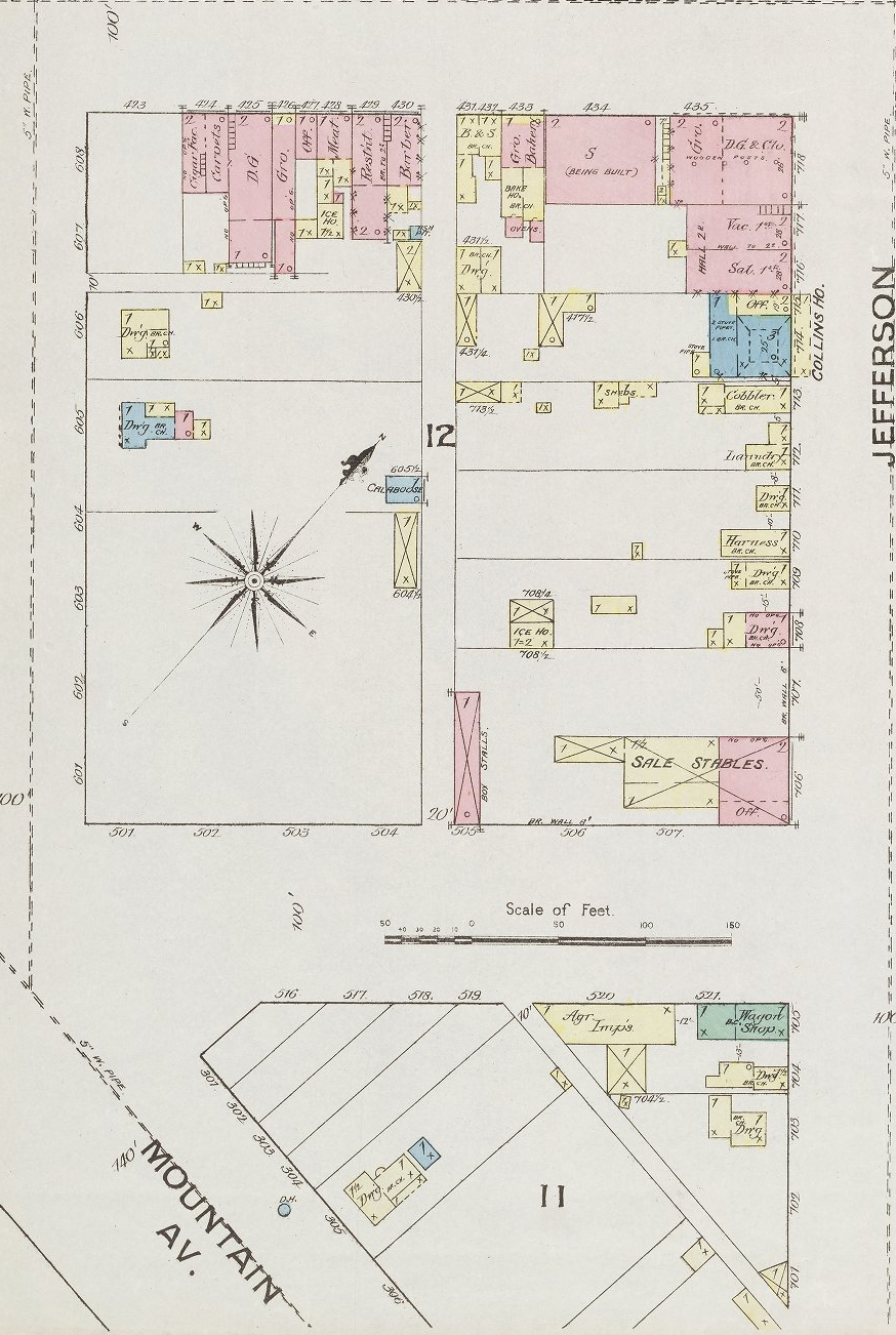 These Fort Collins buildings remain: Sanborn Map (1886) page 3b